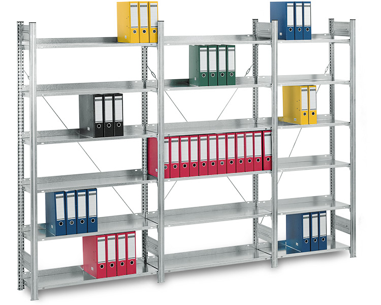 aktenregale f r archive und b ro besonder geeignet f r aktenordner. Black Bedroom Furniture Sets. Home Design Ideas